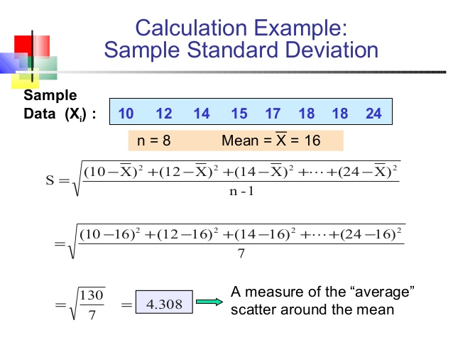 standard deviation how to calculate standard deviation from mean
